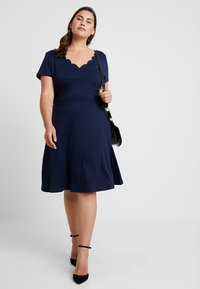 Anna Field Curvy - Vestido ligero - maritime blue - 1