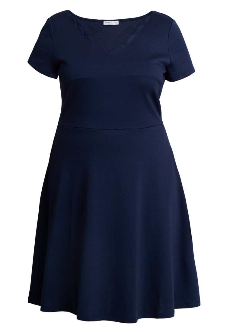 Anna Field Curvy Robe En Jersey - Maritime Blue