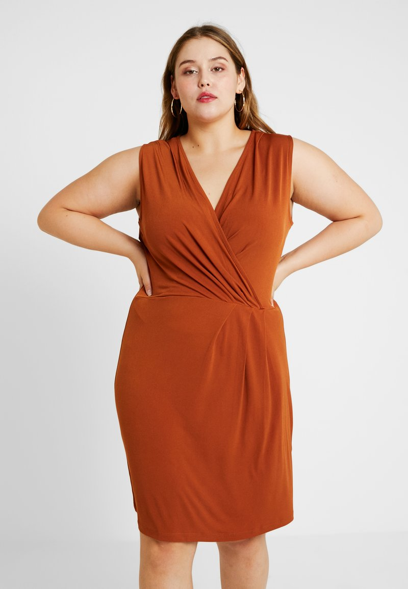 Anna Field Curvy - Shift dress - caramel cafe