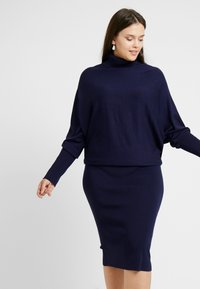 Anna Field Curvy - ROLL NECK BAT SHAPE DRESS - Neulemekko - dark blue - 4
