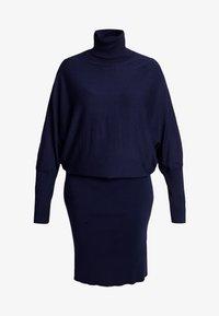 Anna Field Curvy - ROLL NECK BAT SHAPE DRESS - Neulemekko - dark blue - 5