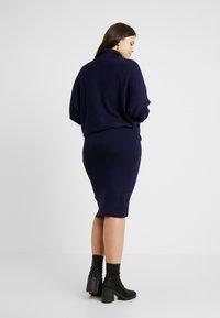 Anna Field Curvy - ROLL NECK BAT SHAPE DRESS - Neulemekko - dark blue - 3