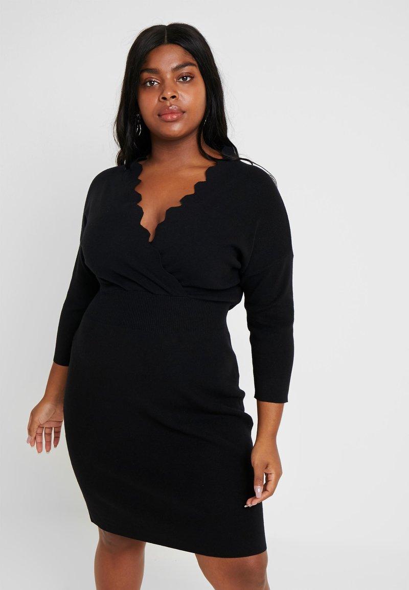Anna Field Curvy - Jumper dress - black