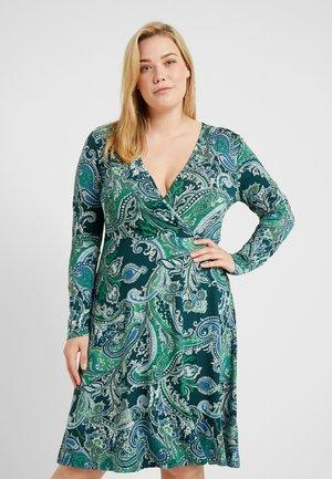 Žerzejové šaty - white/dark green
