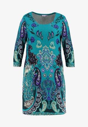 SHIFT STICHELHAAR DRESS - Robe pull - blue/green