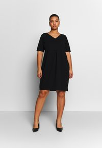 Anna Field Curvy - BASIC JERSEY DRESS - Jerseyjurk - black - 0