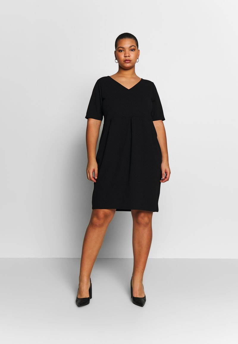 Anna Field Curvy - BASIC JERSEY DRESS - Jerseyjurk - black