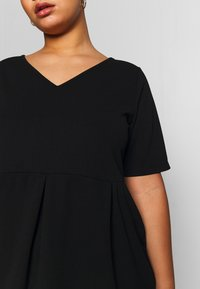Anna Field Curvy - BASIC JERSEY DRESS - Jerseyjurk - black - 6