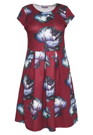 SCUBA OCCASION MIDI DRESS - Jersey dress - burgundy