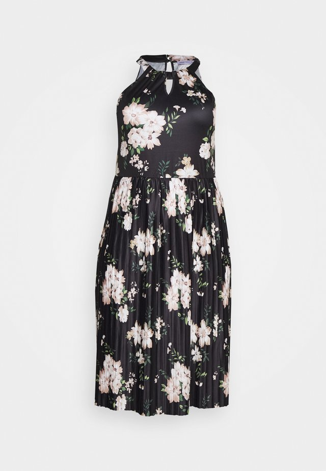 Jerseykleid - black/white