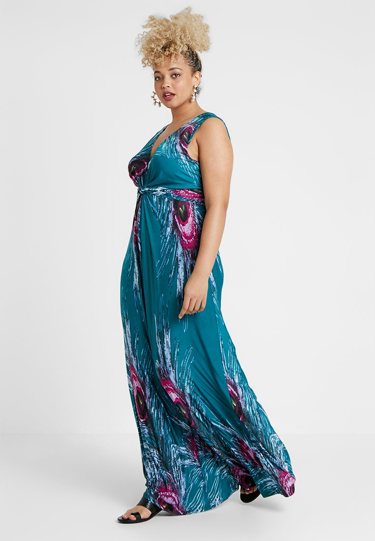 Anna Field Curvy - Maxi dress - turquoise/pink