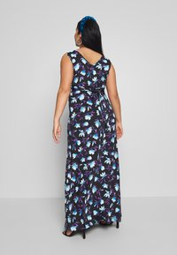 Anna Field Curvy - Maxi šaty - black/blue/white - 2