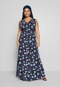 Anna Field Curvy - Maxi šaty - black/blue/white - 1
