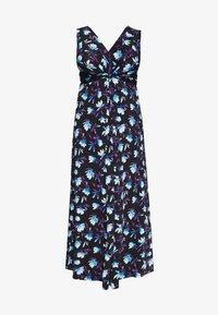 Anna Field Curvy - Maxi šaty - black/blue/white - 4