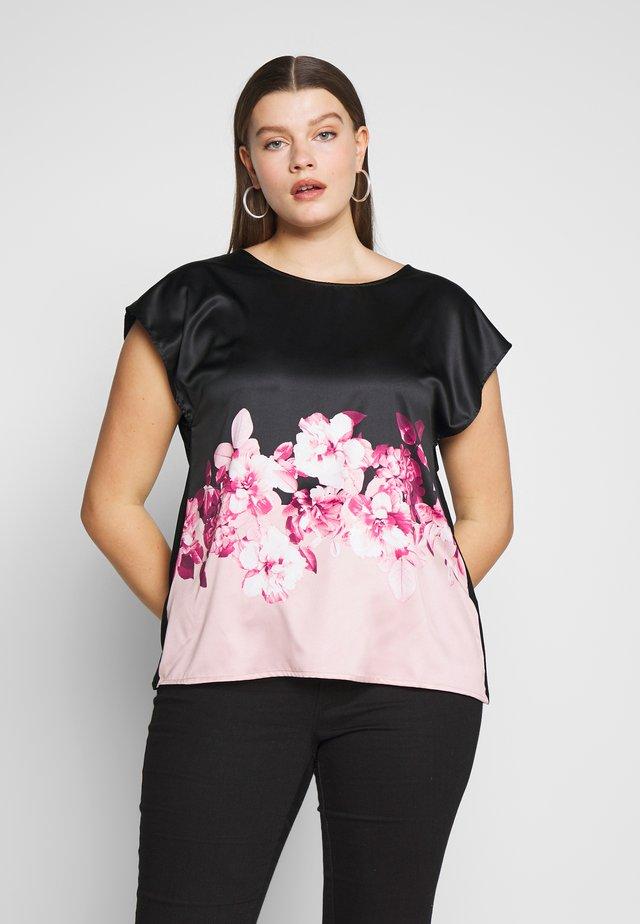 Bluzka - black/rose