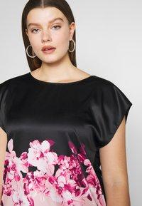 Anna Field Curvy - Blouse - black/rose - 4