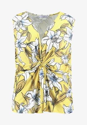 Camiseta estampada - yellow/white