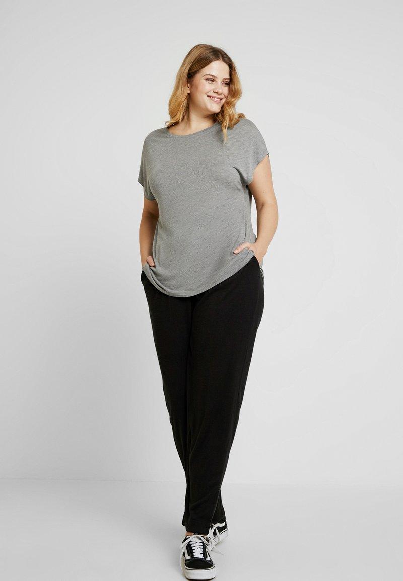 Anna Field Curvy - 2 PACK - T-shirt basic - black/grey