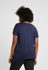 Anna Field Curvy - 2 PACK - T-shirt basique - black/dark blue - 2