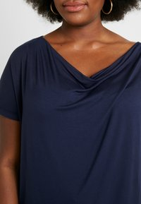Anna Field Curvy - 2 PACK - T-shirt basique - black/dark blue - 4