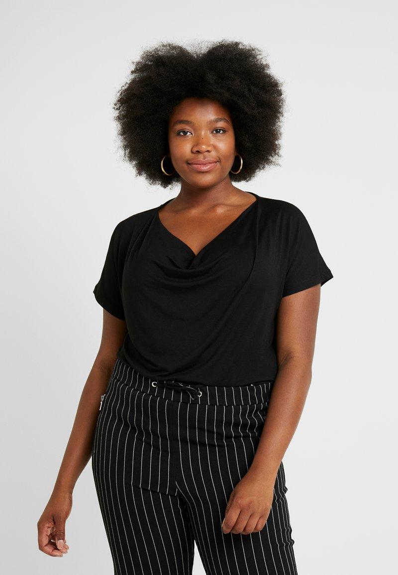 Anna Field Curvy - 2 PACK - T-shirt basique - black/dark blue