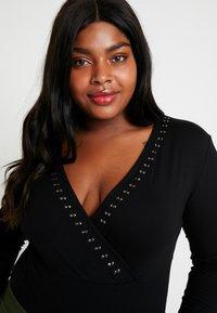 Anna Field Curvy - Long sleeved top - black - 3