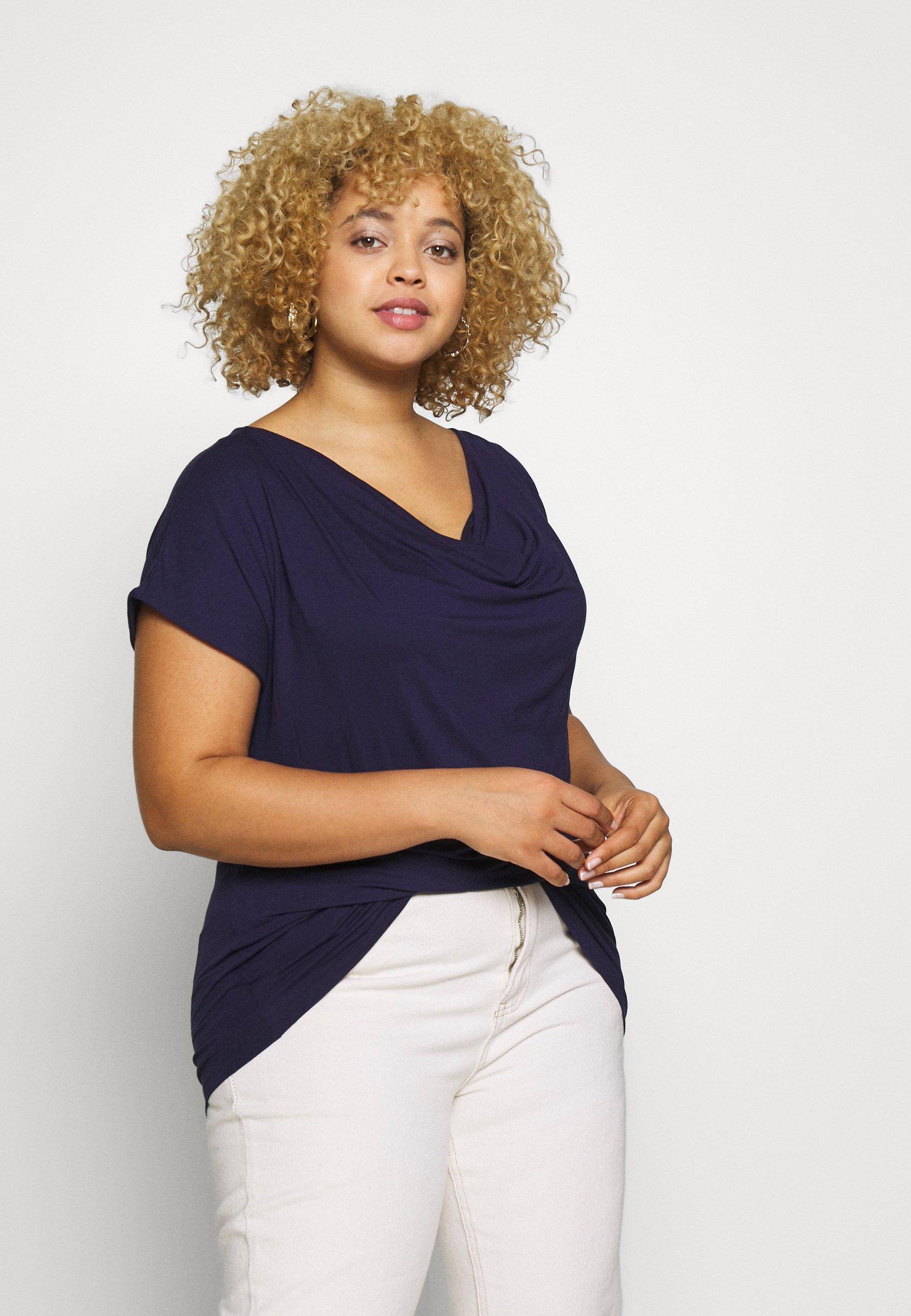 Anna Field Curvy T-shirt basic - evening blue