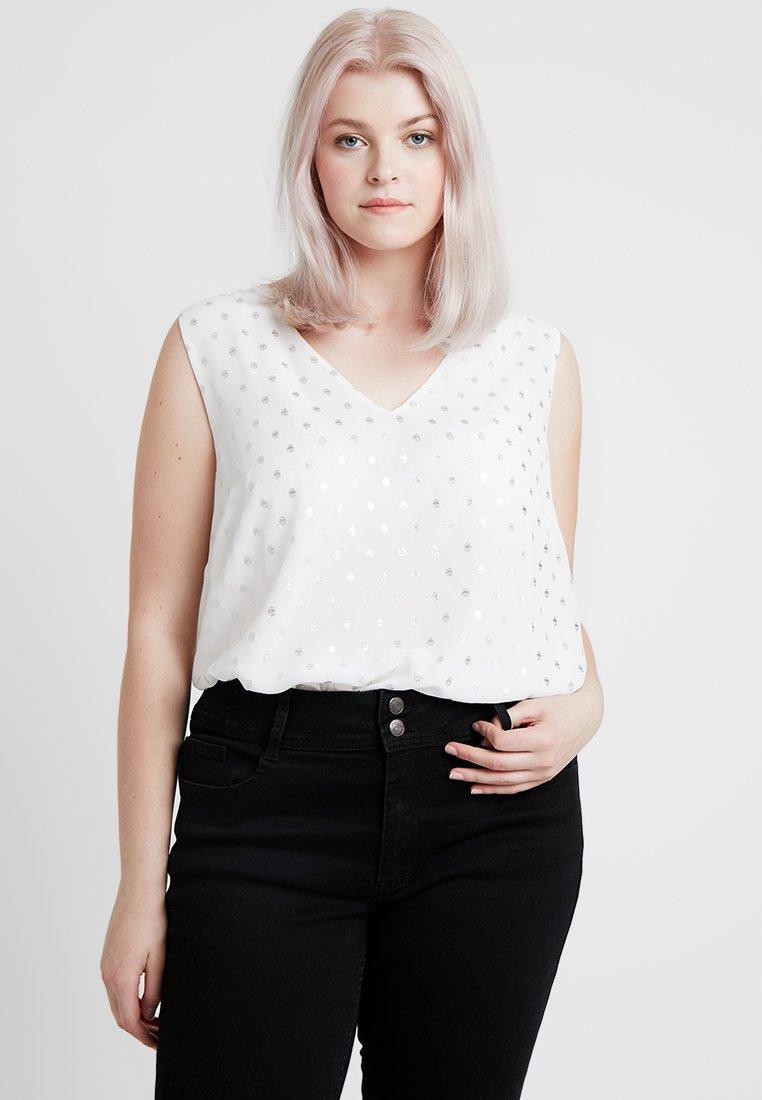 Anna Field Curvy - Blouse - silver/off-white