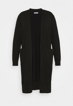 CURVY CALF LENGTH OPEN - Strikjakke /Cardigans - black