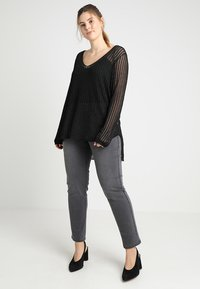 Anna Field Curvy - Slim fit jeans - grey - 1