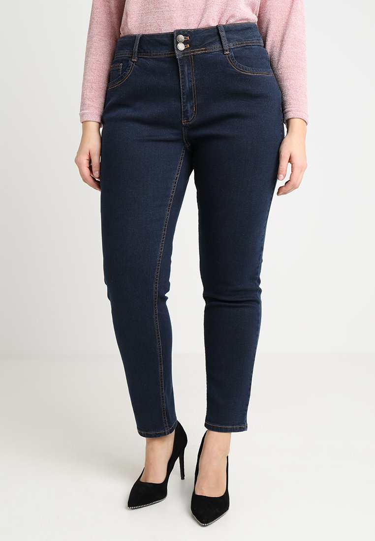 Anna Field Curvy - Jeans slim fit - dark blue rinse wash