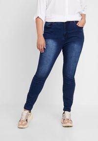 Anna Field Curvy - Jeans Skinny Fit - dark blue - 0