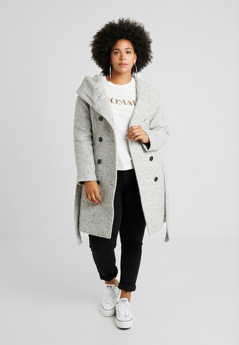 Anna Field Curvy - Zimní kabát - light grey melange