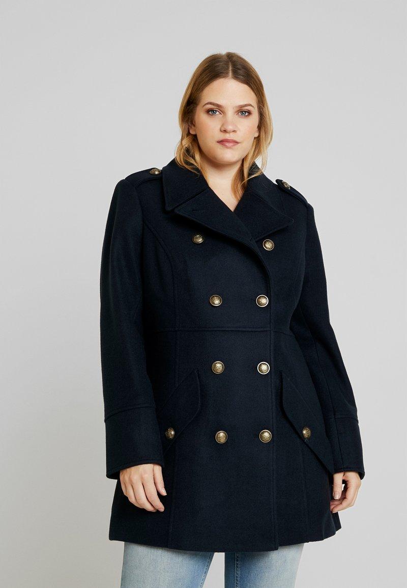 Anna Field Curvy - Short coat - dark blue