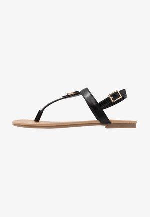 JADENE - Sandály s odděleným palcem - black