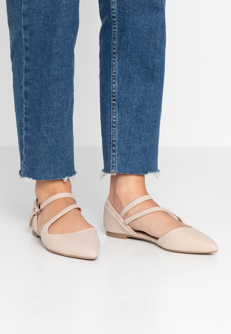 Call it Spring - FEROSS - Ankle strap ballet pumps - beige