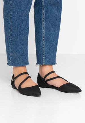 FEROSS - Ankle strap ballet pumps - other black