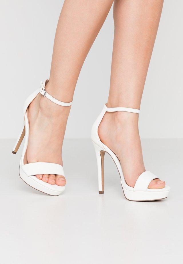 WESTKAAP - Sandály na vysokém podpatku - white