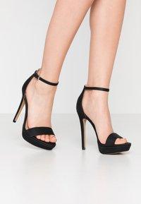 Call it Spring - WESTKAAP - Korolliset sandaalit - black - 0