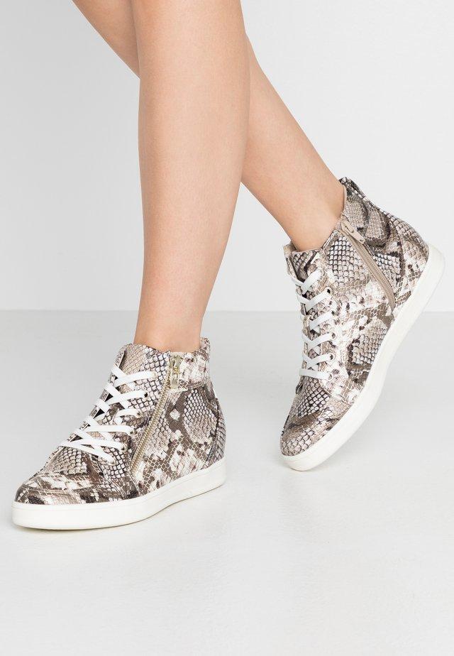 ULEAVIA - Sneakers high - champagne