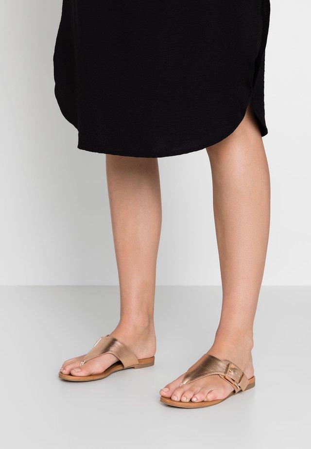 FENNICA - T-bar sandals - rose gold