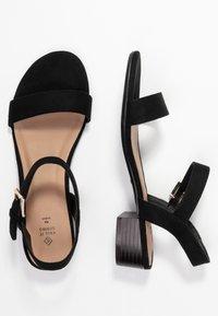 Call it Spring - COOLMINE - Sandaalit nilkkaremmillä - black - 3