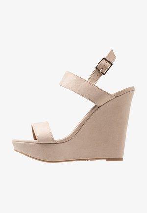 ARTICHOKE - Sandály na vysokém podpatku - bone