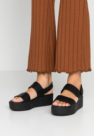 ADERICIA VEGAN - Sandalias con plataforma - black