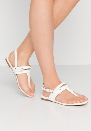 LEESWOOD VEGAN - T-bar sandals - white