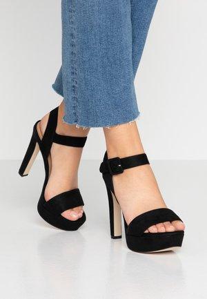 WANNA - Sandały na obcasie - black