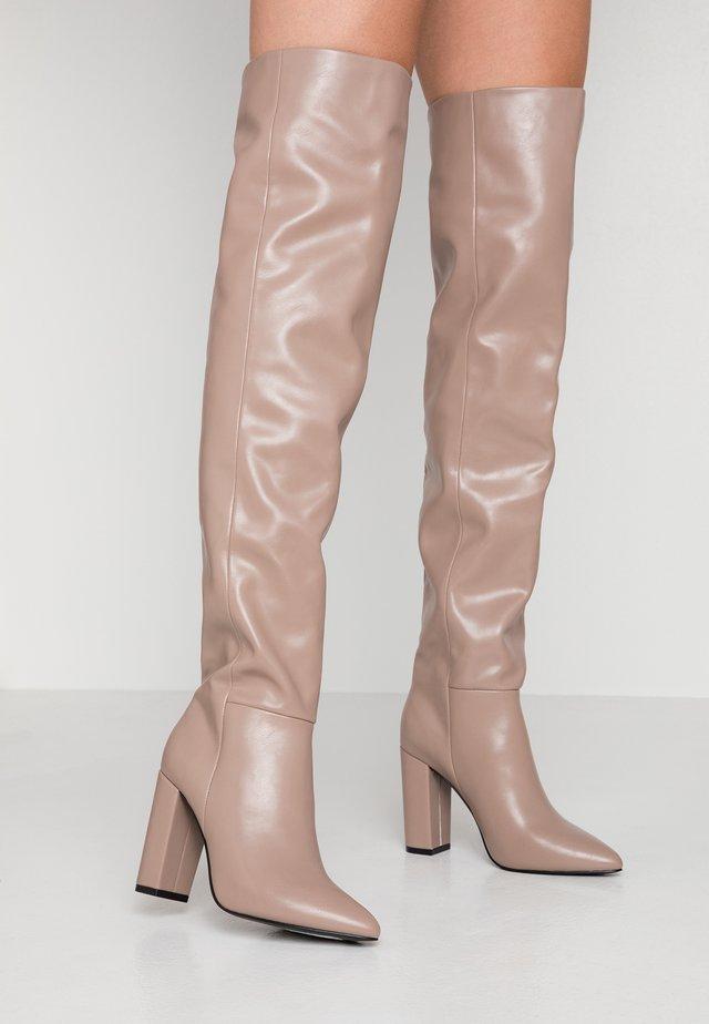 SLOUCH - High Heel Stiefel - dark beige