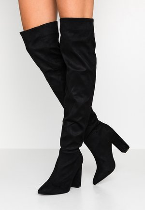 SLOUCH - High heeled boots - black