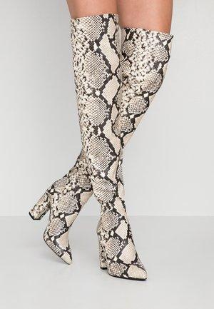 SLOUCH - Laarzen met hoge hak - black/white