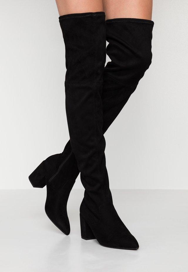 ASHLEY - Overknee laarzen - black